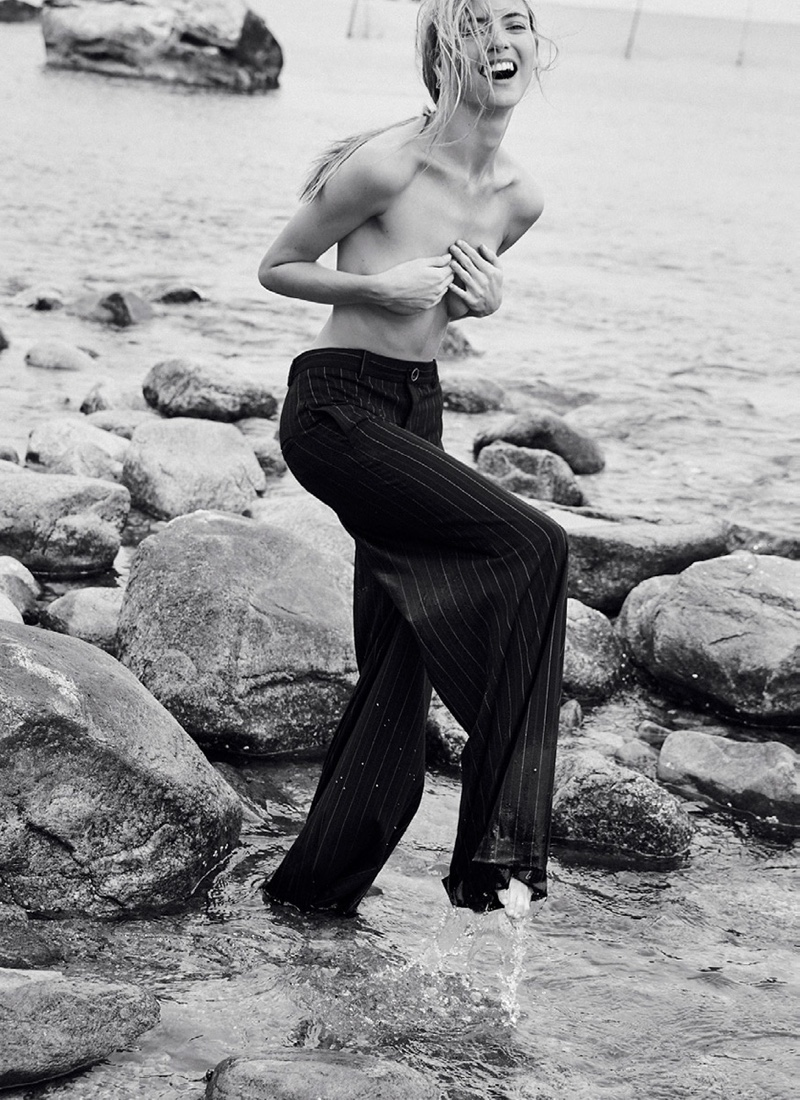 Martha Hunt Models Beach Fashion for Issue Magazine