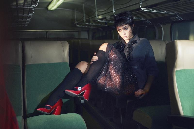 Lola Leon appears in Miu Miu spring-summer 2019 campaign