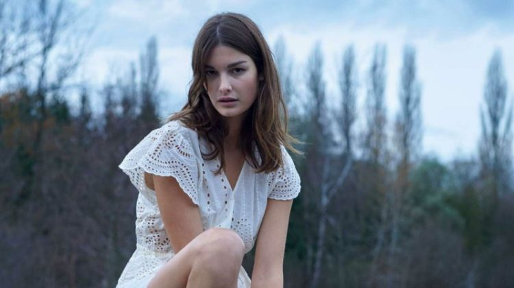 Ophelie Guillermand Wears Ethereal Looks for ELLE France