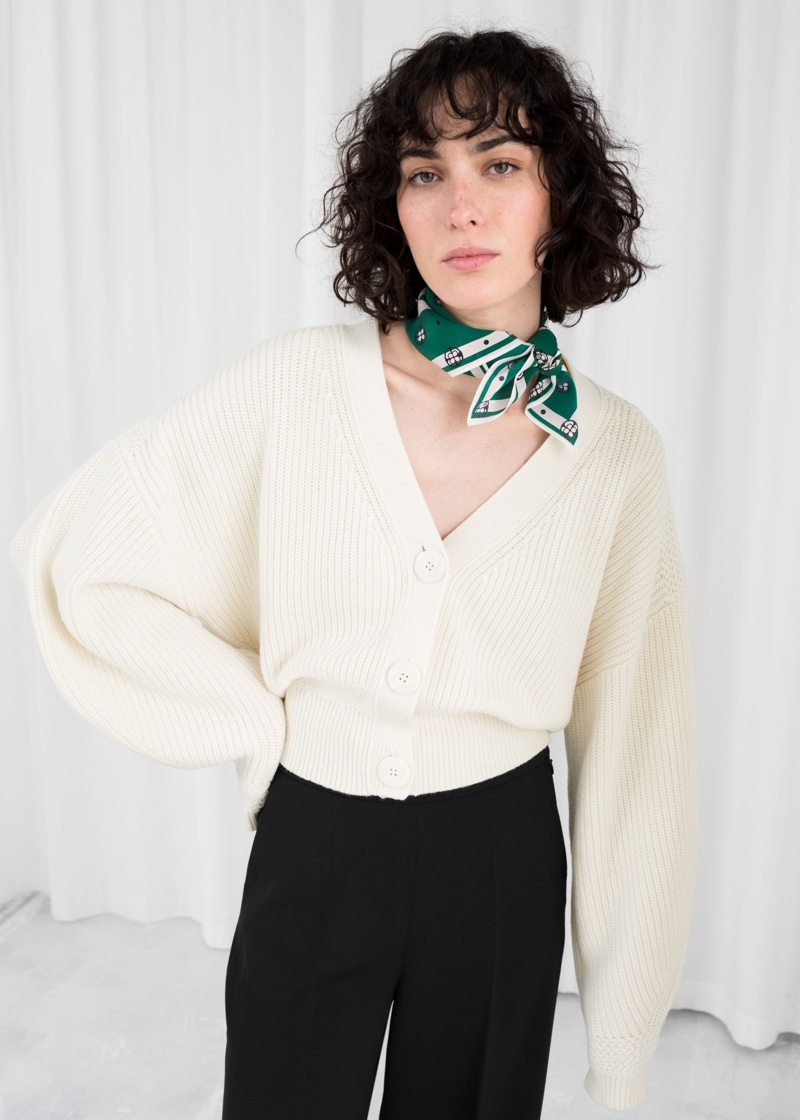 & Other Stories Cropped Cardigan $95