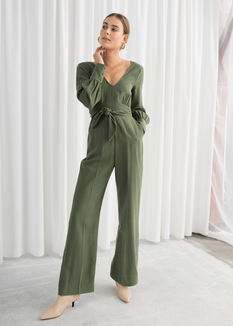& Other Stories Flared Belted Jumpsuit $99
