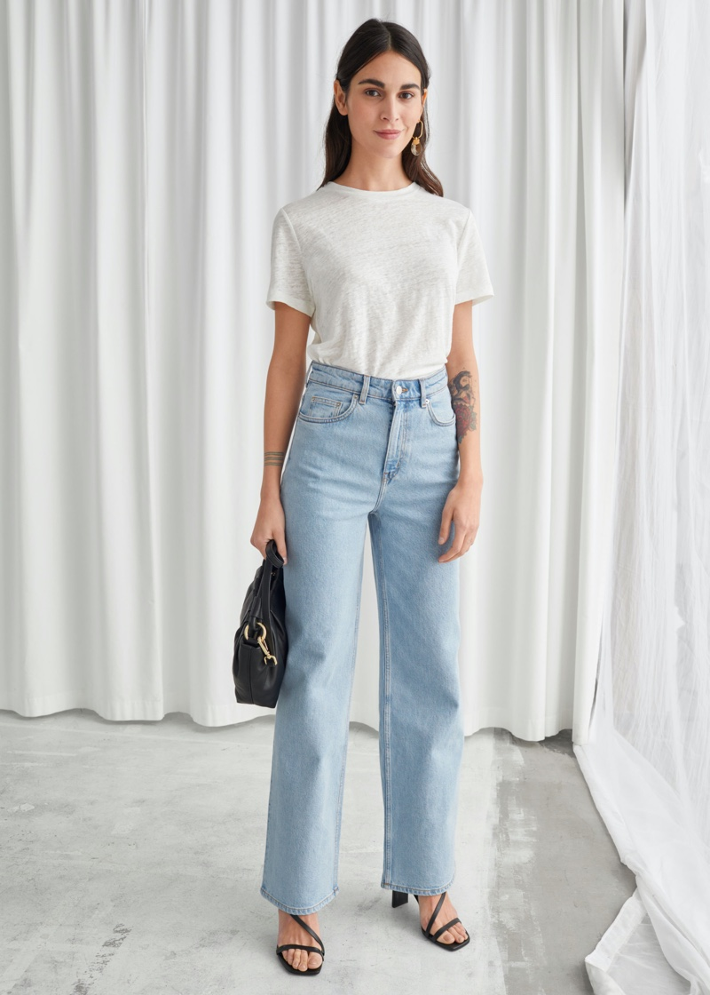 & Other Stories High-Rise Jeans in Blue $79