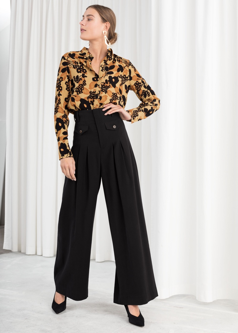& Other Stories High Waisted Wide Leg Pants $89