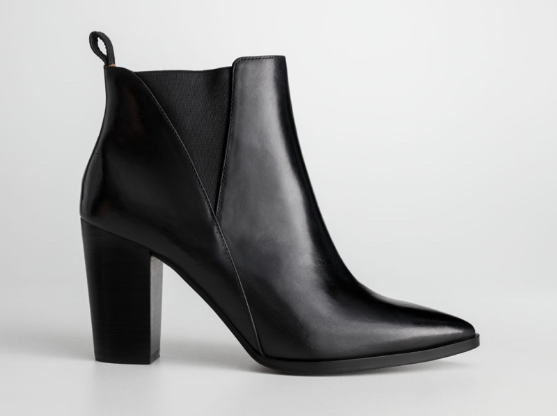 & Other Stories Leather Ankle Boots in Black $195