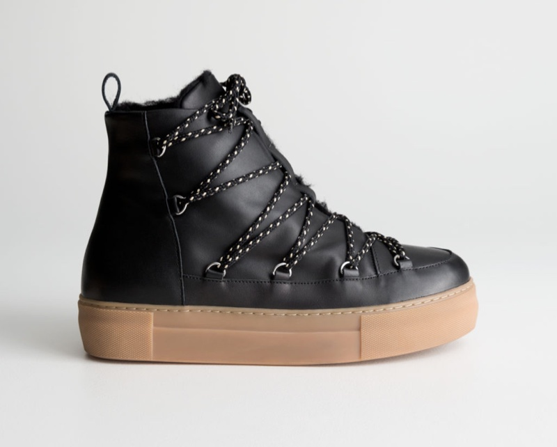 & Other Stories Leather Snow Boots $195