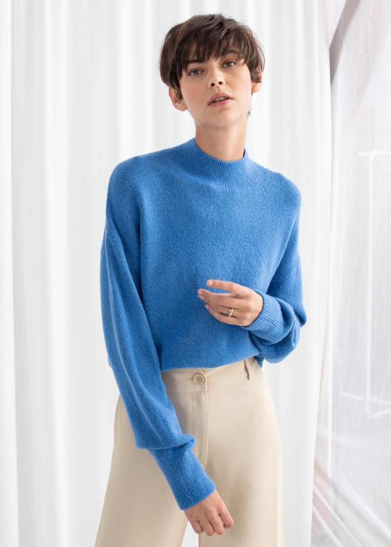 & Other Stories Mock Neck Sweater $49