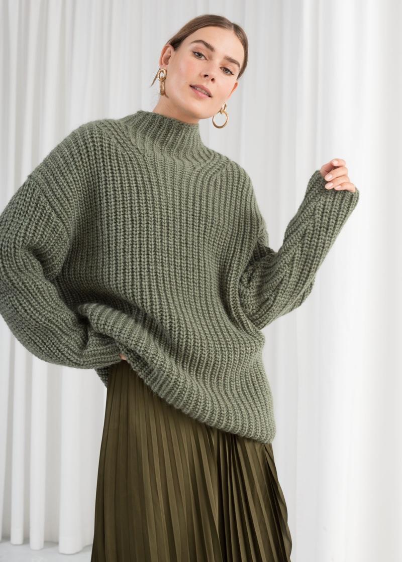 & Other Stories Oversized Alpaca Blend Sweater in Pistachio $99