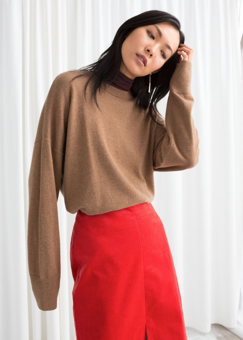 & Other Stories Oversized Cashmere Sweater in Camel $145