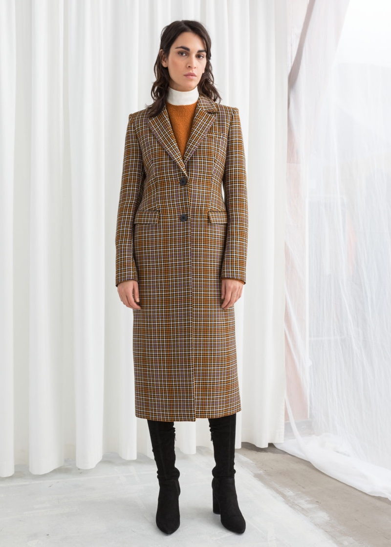 & Other Stories Plaid Hourglass Coat $249