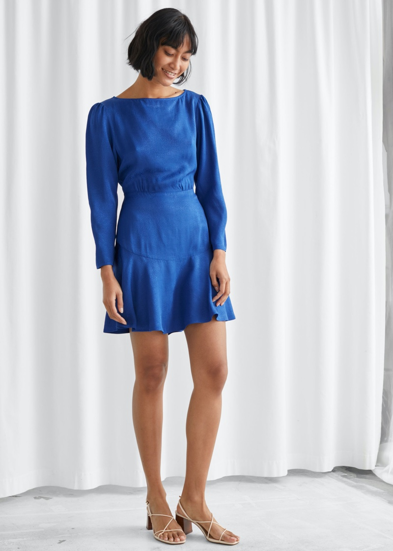 & Other Stories Relaxed Jacquard Mini Dress $89