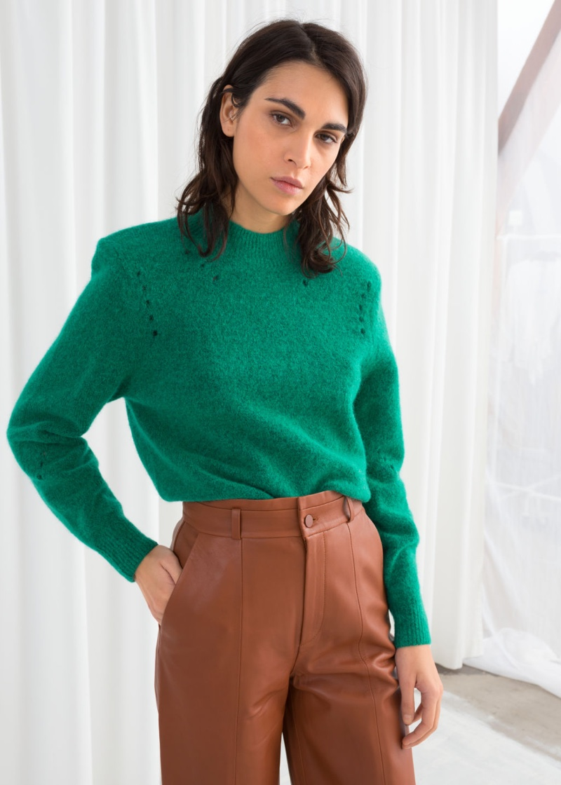 & Other Stories Structured Alpaca Wool Blend Sweater $99