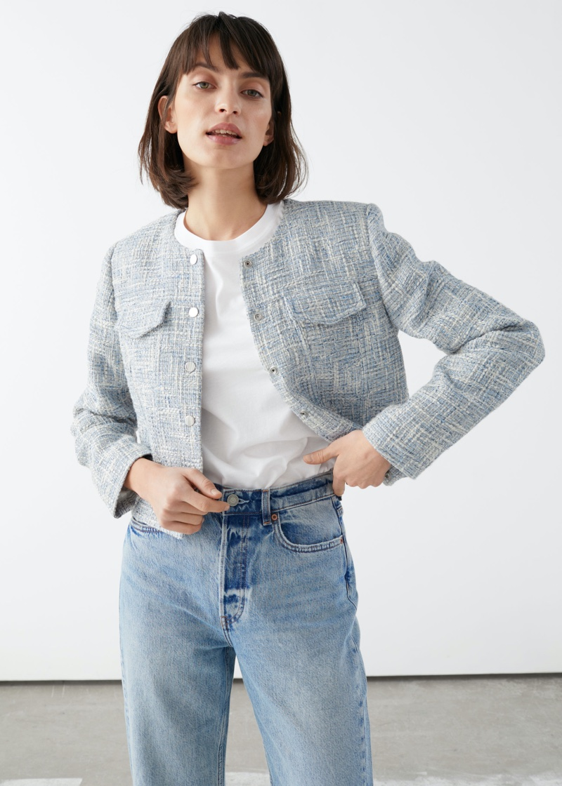 & Other Stories Tailored Tweed Jacket $129