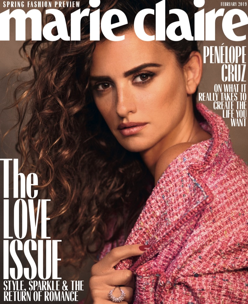 Penelope Cruz on Marie Claire US February 2019 Cover