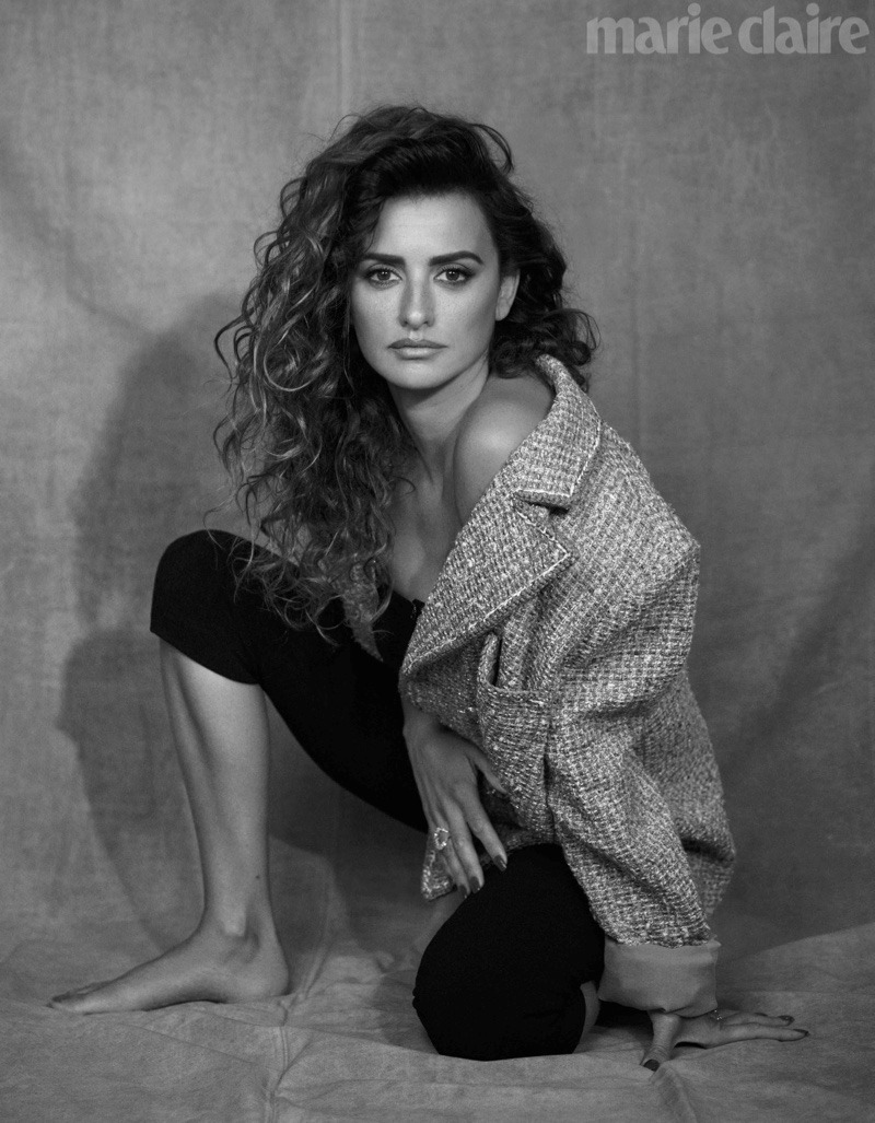 Actress Penelope Cruz poses in Chanel jacket and shorts