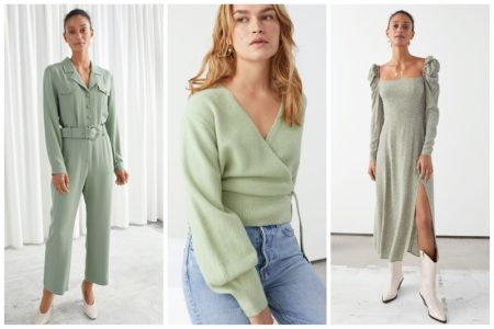 & Other Stories pistachio fashion trend