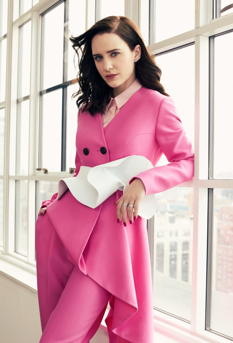 The Marvelous Mrs. Maisel's Rachel Brosnahan Suits Up for Bustle
