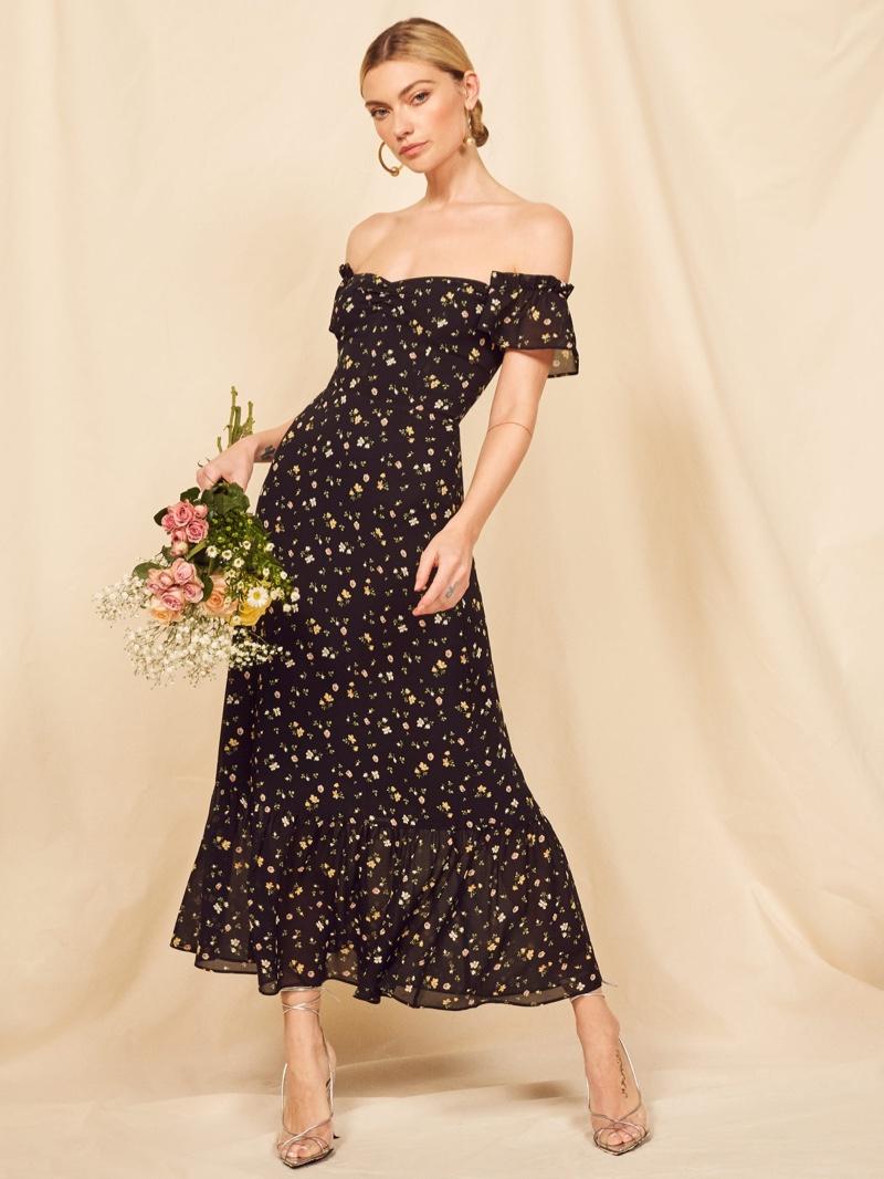 Reformation Butterfly Dress in Venezia $278
