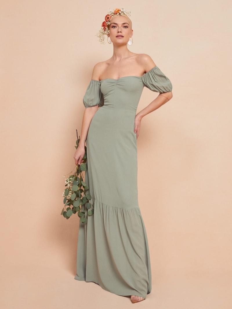 Reformation Farrow Dress in Seafoam $388