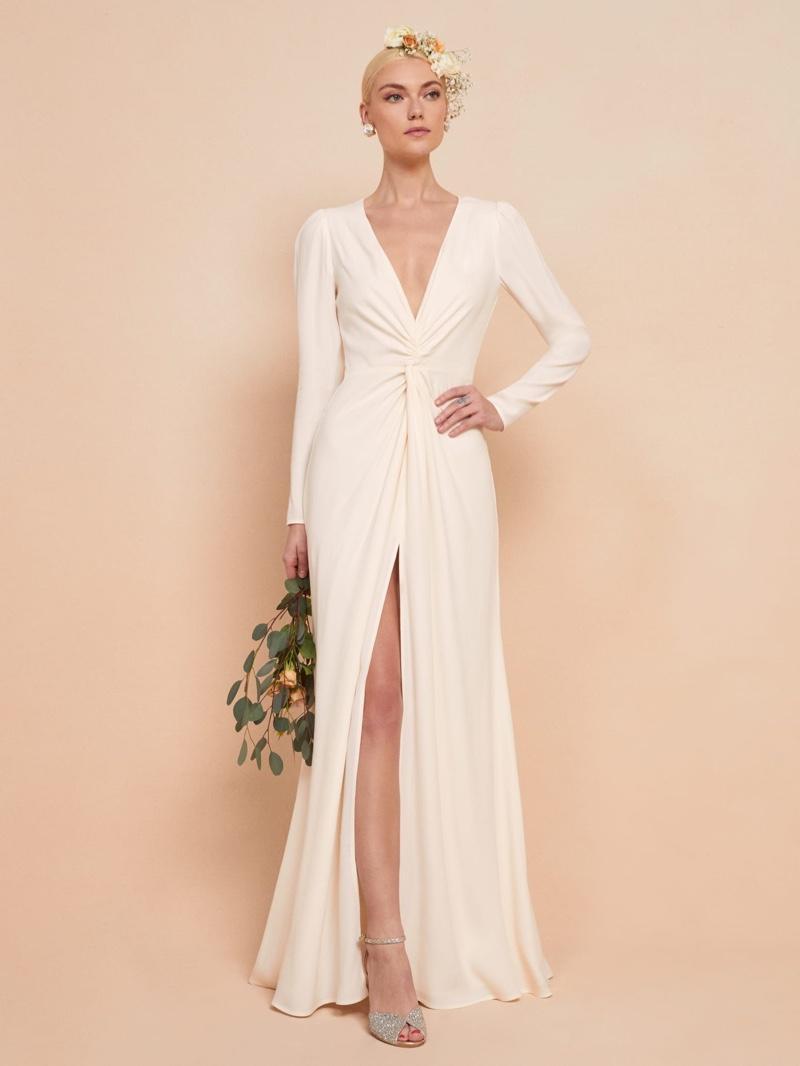 Reformation Gatsby Dress in Ivory $428