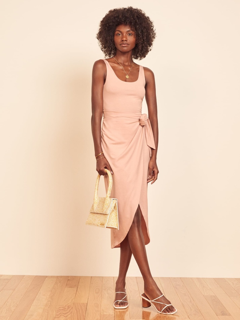 Reformation Kalia Dress in Blush $98