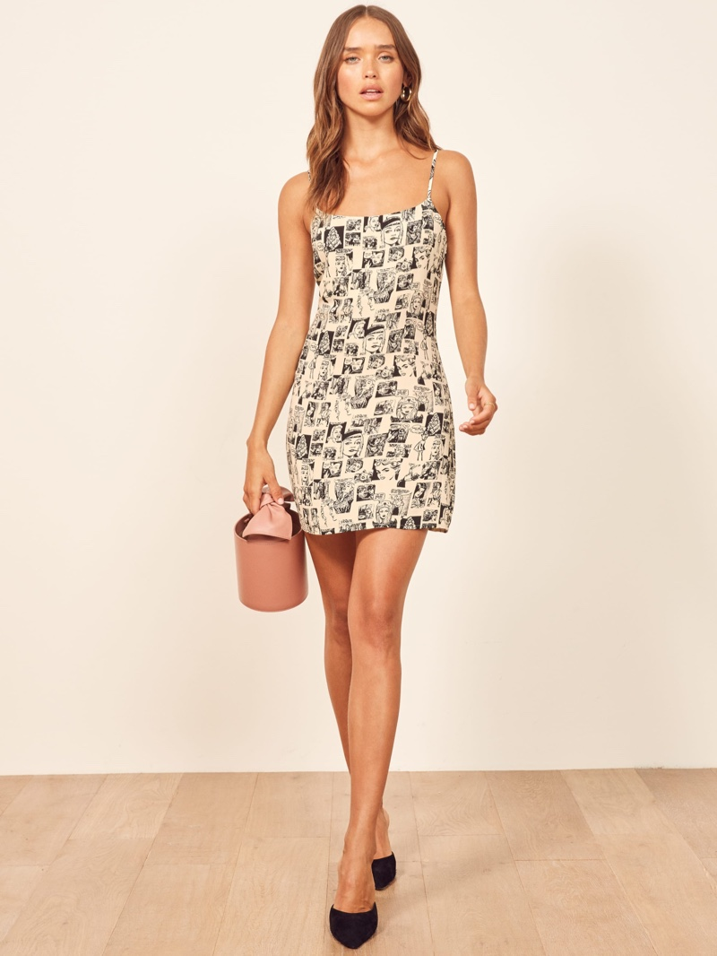 Reformation Lindsay Dress in Newspaper $98