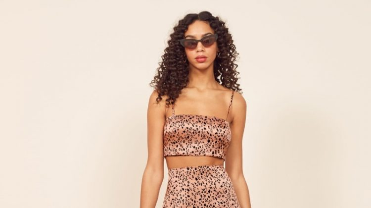 Reformation Pete Two Piece in Pink Panther $248