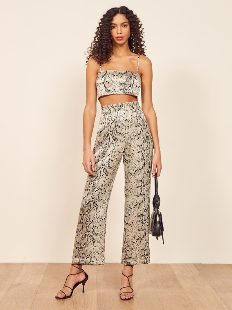 Reformation Samson Two Piece in Rattlesnack $248