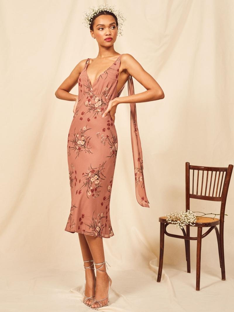 Reformation Venezia Dress in Queen $278