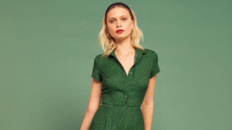Reformation Wilma Dress in Jitterbug $218
