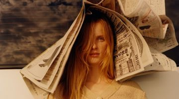 Rianne van Rompaey Models Beach-Ready Looks for W Magazine