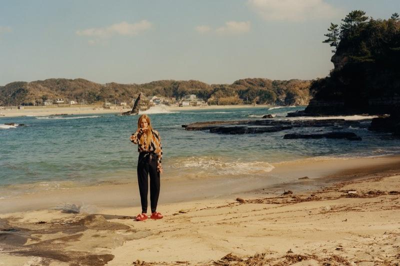 Rianne van Rompaey Models Beach-Ready Looks for W Magazine