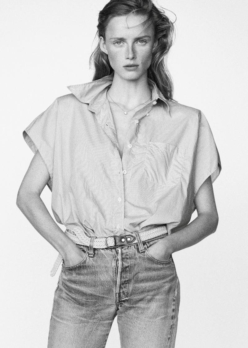 Rianne van Rompaey Channels Jane Birkin for Vogue Paris
