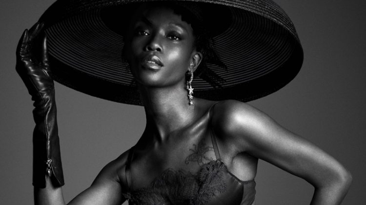 Riley Montana Models Lingerie Looks for Vanity Fair Italy