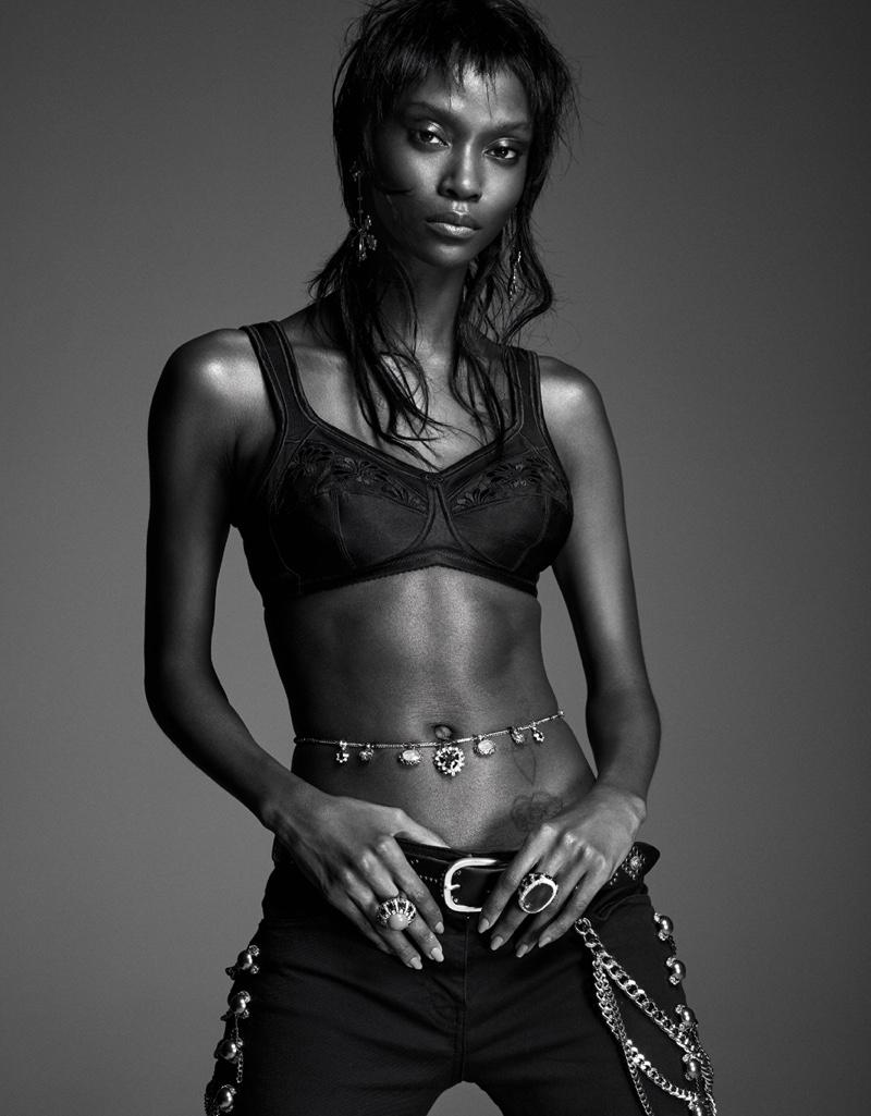 Riley Montana Models Lingerie Looks for Vanity Fair Italy