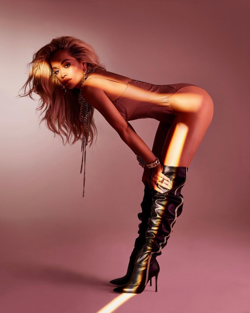 Giuseppe Zanotti x Rita Ora Chain Heel Over the Knee Boot $1,995