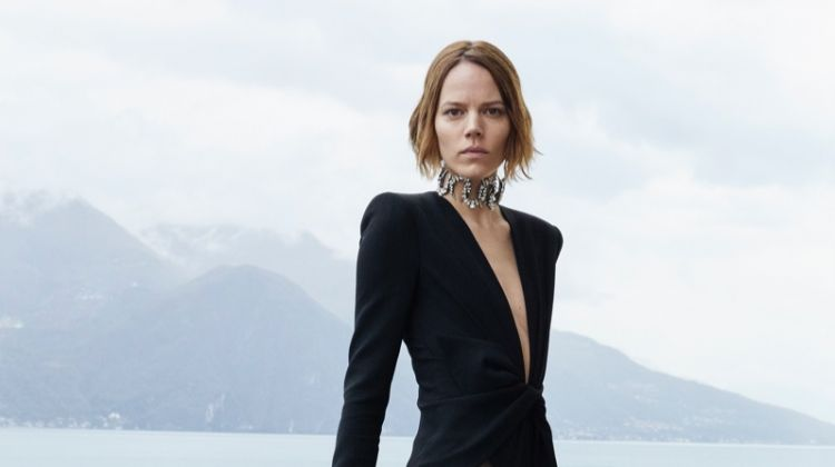 Freja Beha Erichsen strikes a pose for Saint Laurent summer 2019 campaign