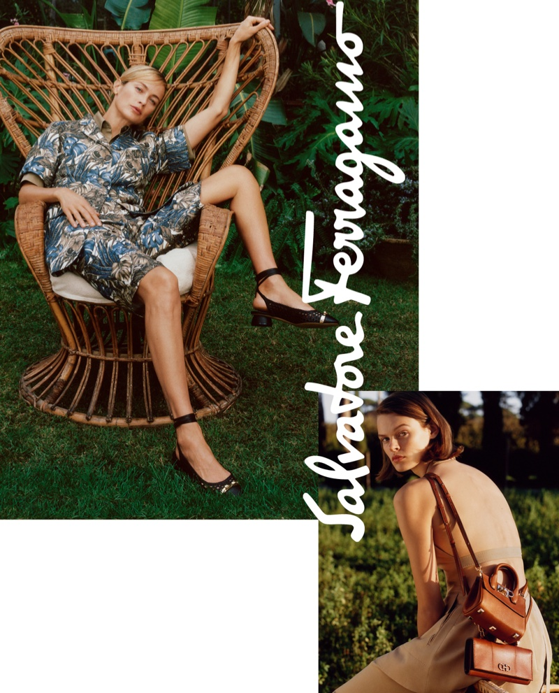 Carolyn Murphy and Cara Taylor appear in Salvatore Ferragamo spring-summer 2019 campaign