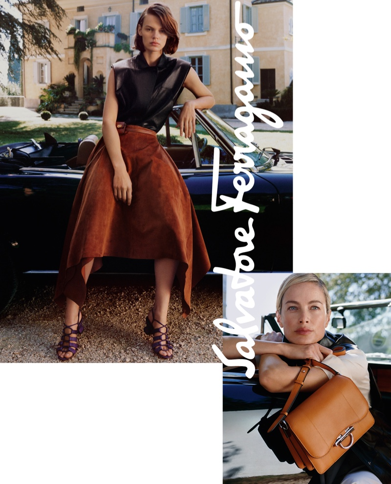 Photo from the Salvatore Ferragamo spring 2019 advertising campaign