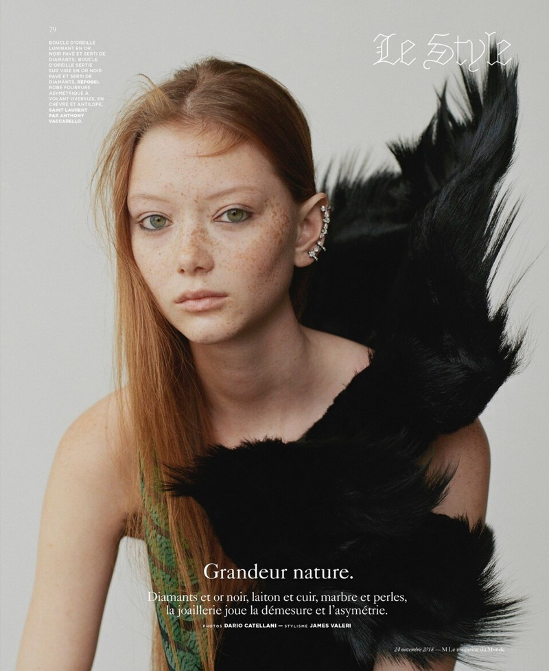 Sara Grace Wallerstedt Layers Up for M Le Monde Cover Story