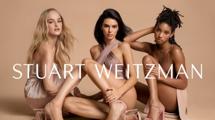 Jean Campbell, Kendall Jenner and Willow Smith star in Stuart Weitzman spring-summer 2019 campaign