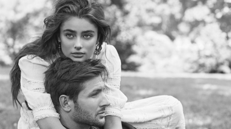 Taylor Hill and Miichael Stephen Shank star in Ralph Lauren Romance fragrance campaign
