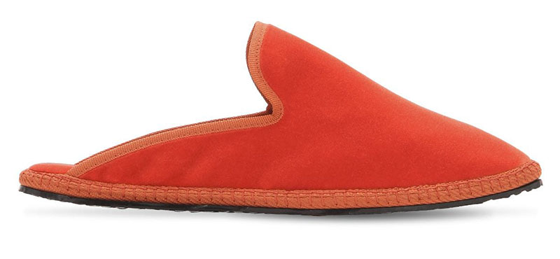 Vibi Venezia Velvet Espadrilles in Orange $125
