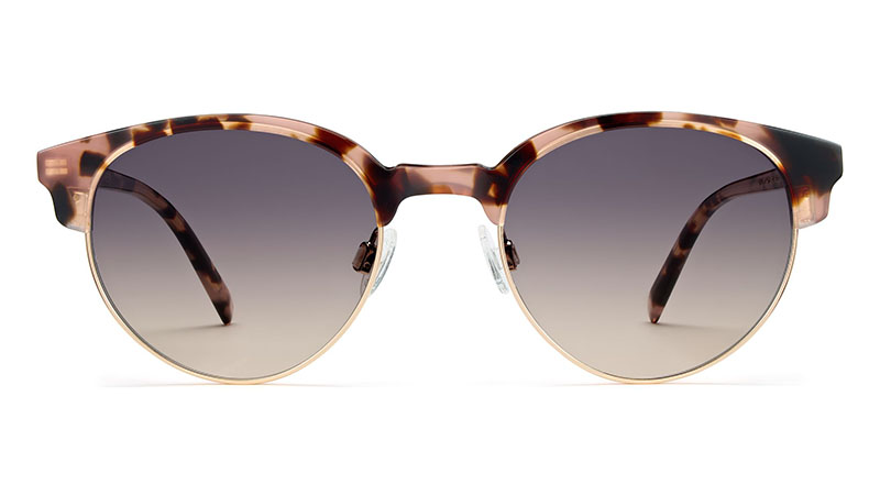 Warby Parker Carey Sunglasses in Petal Tortoise with Gold and Pink Gradient Lenses $145