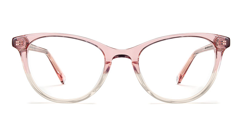 Warby Parker Madeleine Glasses in Cherry Blossom Fade $95