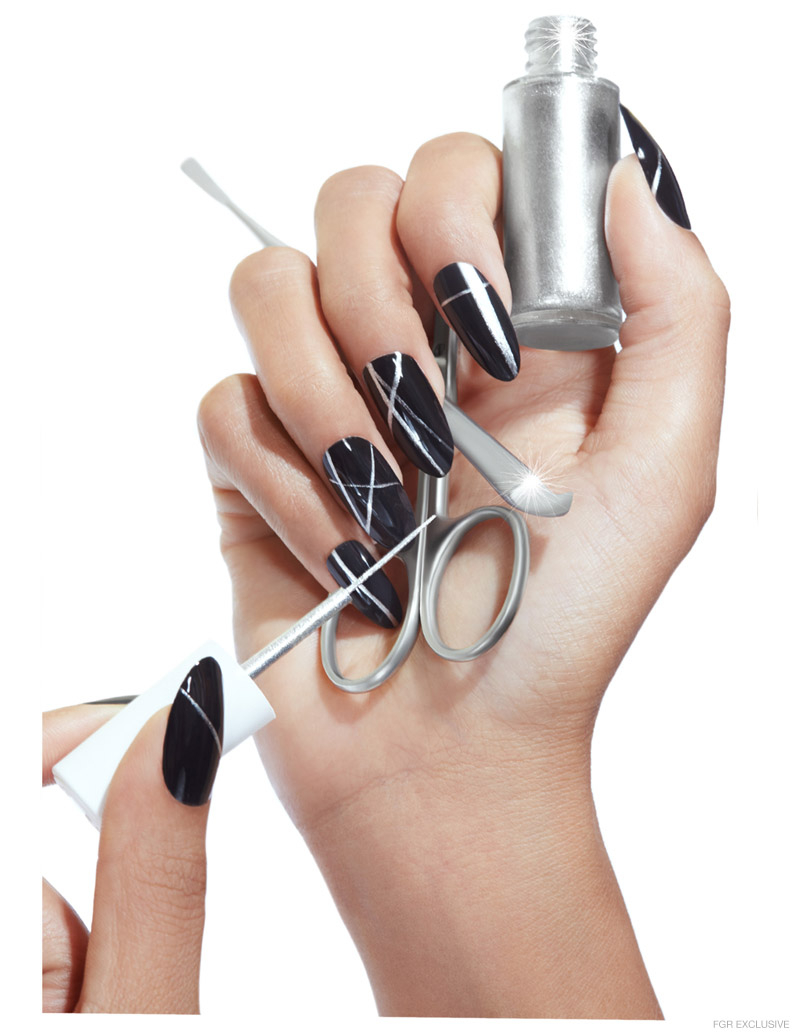 Smith and Cult Nail Color in Bang The Dream, Silver Stripes in Glass Souls by Smith and Cult, Seki Edge Stainless Steel Pro Tools Cuticle Pushes and Scissors. Photo: Wendy Hope