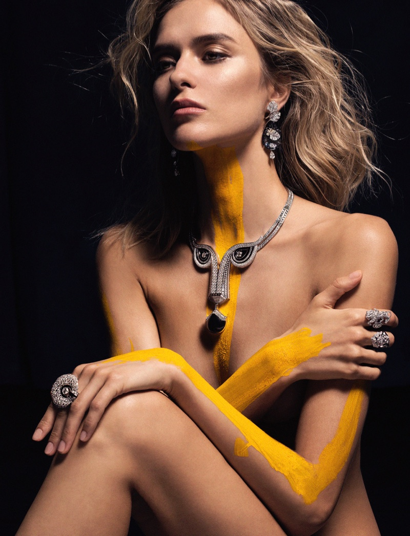 Yana Vilkina Shines in Colorful Body Paint for SCMP Style