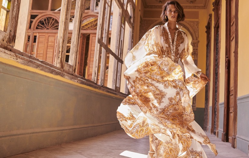 Giedre Dukauskaite wears Zippy billow dress from Zimmermann's spring 2019 collection