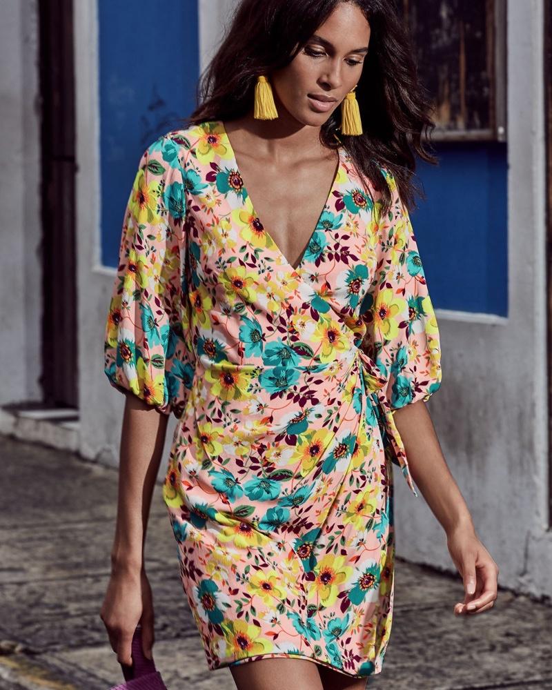 Aidan by Aidan Mattox Floral Print Wrap Cocktail Dress $255