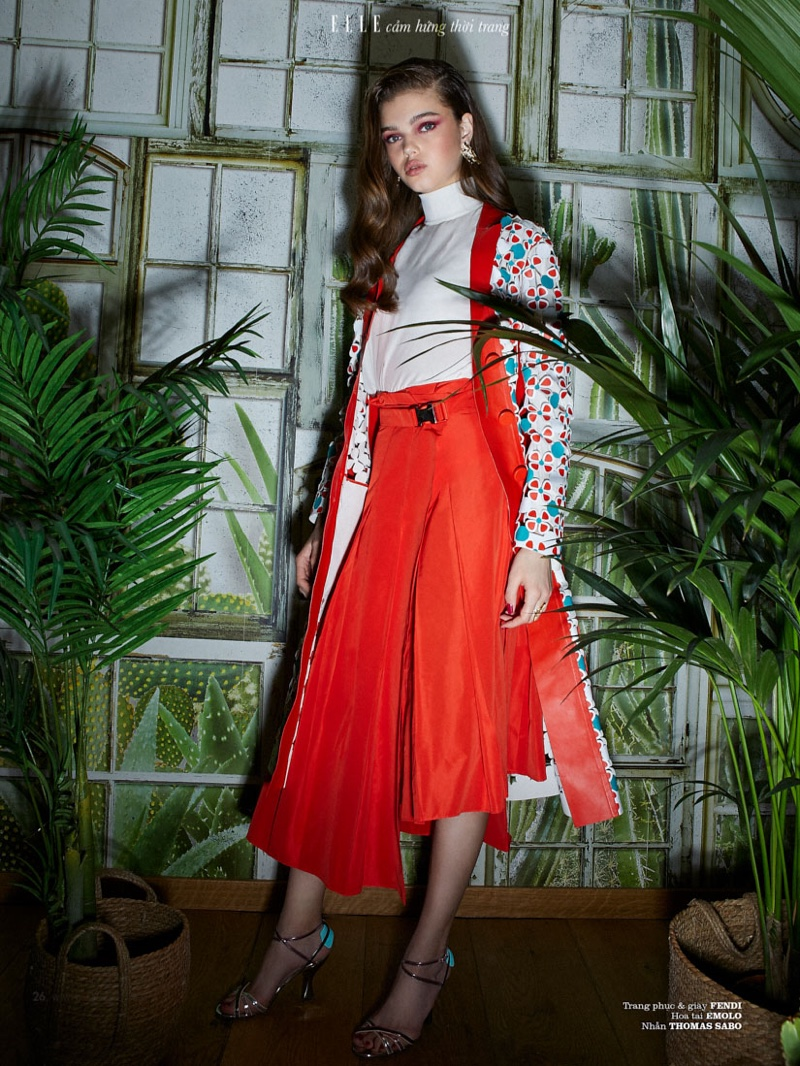 Aleksandra Rudakova Poses in Spring Trends for ELLE Vietnam