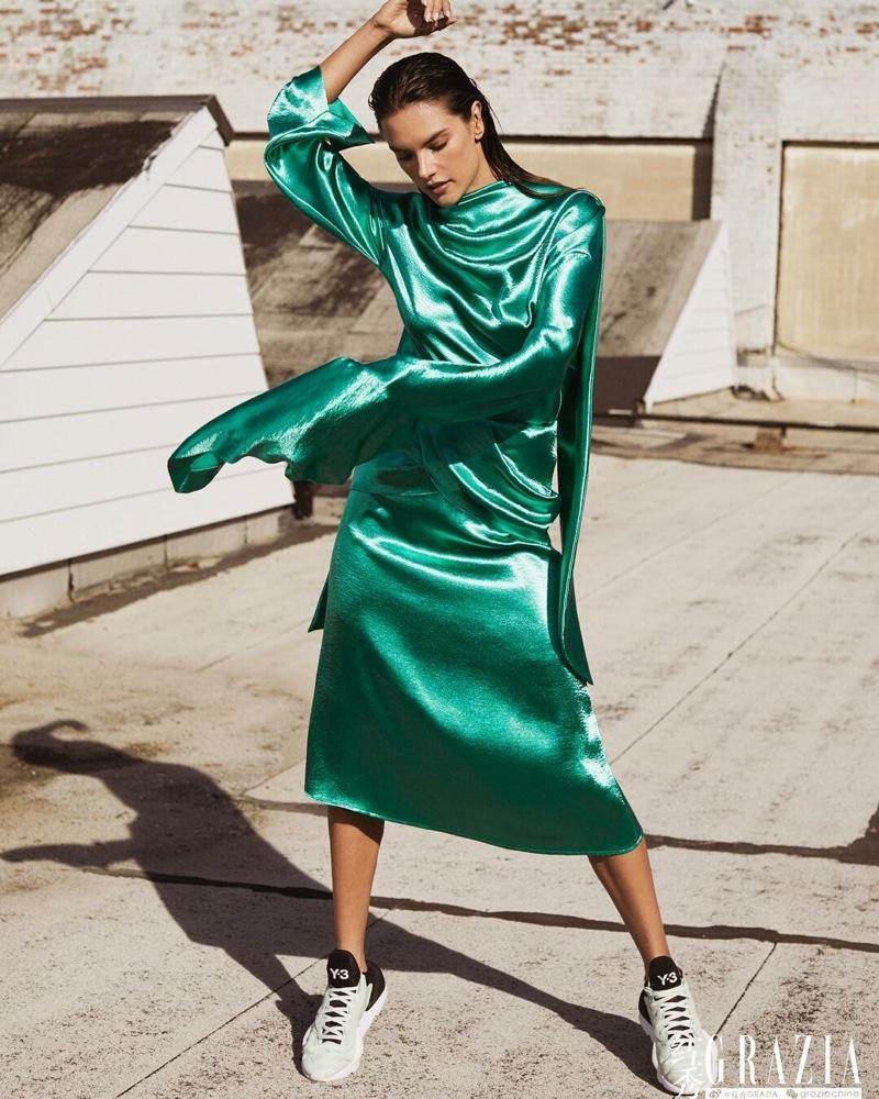 Alessandra Ambrosio Wears Cool Girl Styles for Grazia China